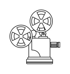 line short film video camera studio vector image