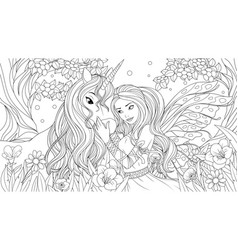 lovely fairy and little vector image