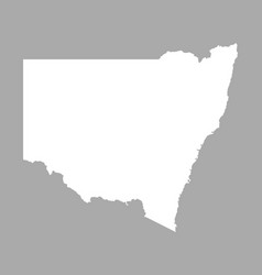 Map of new south wales vector