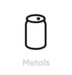 metals recycling icon editable line vector image
