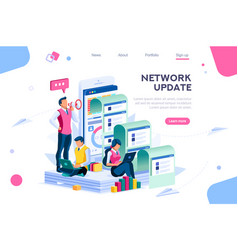 Network update concept for homepage vector
