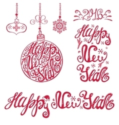 New year letteringCards typography elements vector image