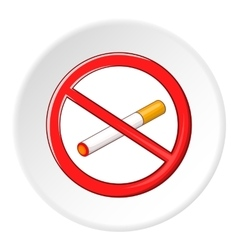 No smoking sign icon cartoon style vector
