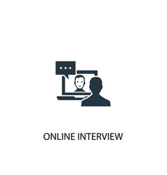 Online interview icon simple element vector