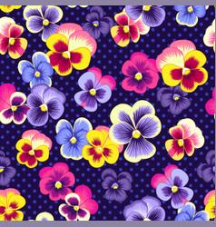 pansies pattern vector image