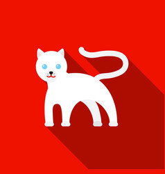 Panther icon flat singe animal icon from the big vector