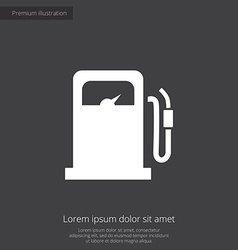 petrol station premium icon vector image