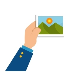 Picture file isolated icon vector