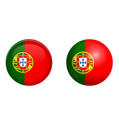 portugal flag under 3d dome button and on glossy vector image