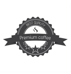 Premium coffee quality label vector
