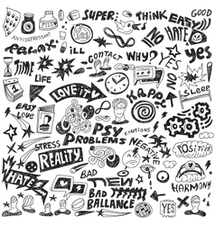 psychology - doodles set vector image
