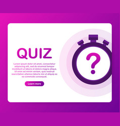 Quiz quiz online on laptop the concept is the vector