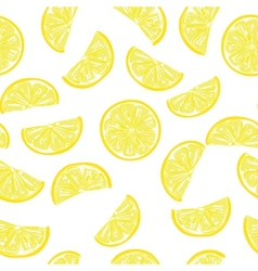 Seamless sliced lemon pattern vector image