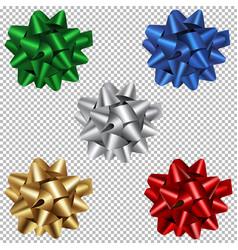 set christmas bows vector image