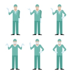 Set of surgeons vector