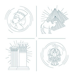 Set of symbols of egypt vector