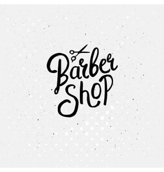 Simple Text Design for Barber Shop Concept vector image