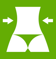 slim body of a woman icon green vector image