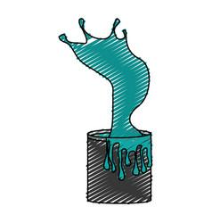 splashing paint pot icon vector image