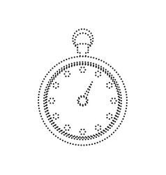 stopwatch sign black dotted vector image vector image