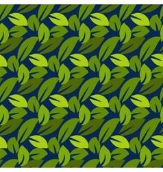 Stylized cartoon dense foliage seamless pattern vector