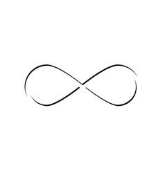 Symbol infinity isolated line geometric vector