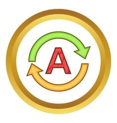Translation language icon vector image
