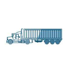 truck container shipping cargo - shadow vector image