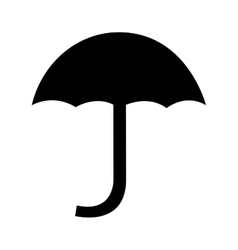 umbrella silhouette symbol isolated icon vector image