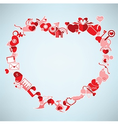 Valentines Day background with heart The Heart vector image
