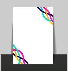 white flyer template layout with colorful vector image