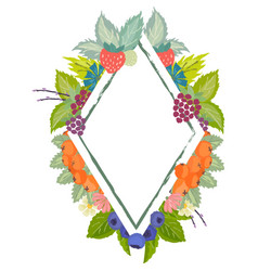 Wild berries badge vector