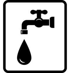 black tap and drop vector image vector image