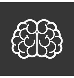 Brain Logo Icon on Black Background vector image vector image