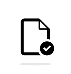 Check files icon on white background vector image