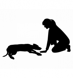 dog obedience vector image vector image