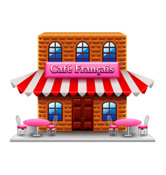french cafe isolated on white vector image vector image
