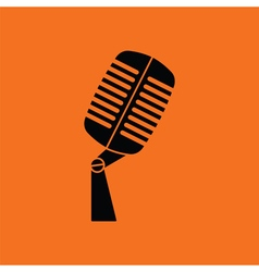 Old microphone icon vector image