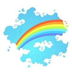 Rainbow in the sky vector image