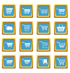 shopping cart icons azure vector image vector image