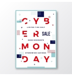 Cyber Monday Modern Typography Swiss Style Poster vector image vector image