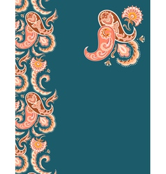 Paisley design vector image