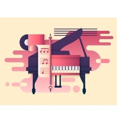 Piano design flat vector image vector image