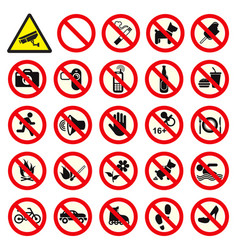 prohibited no stop sign vector image