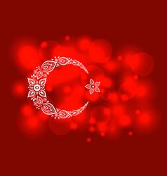 Stylized turkish flag vector