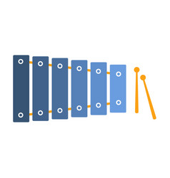xylophone part of musical instruments set of vector image vector image