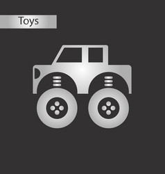 black and white style toy car vector image