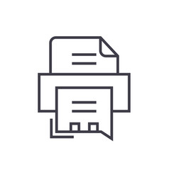 fax printer line icon sign vector image