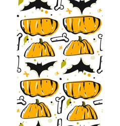 hand drawn abstract seamless halloween vector image