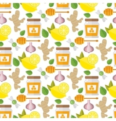 Healthy food pattern vector image
